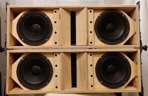 plans  build la dual   array speaker cabinet