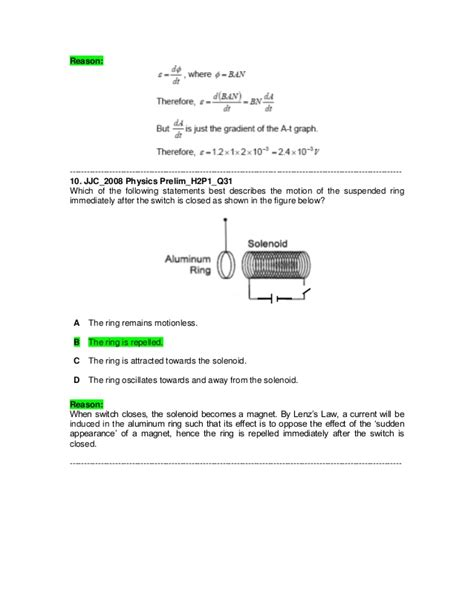 electromagnetic induction mcq electromagnetic induction mcq questions 28 images j2 physics 2008 prelim electromagnetic