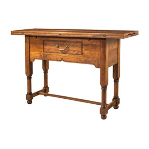 counter height flip top console table 1 5310 pub