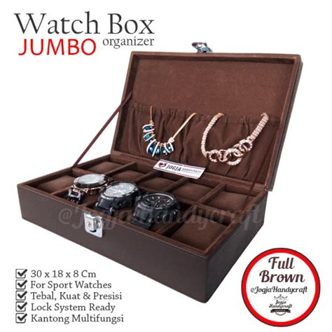 Jam Tangan 5 11 Best Box Exclusive exclusive large size box with lock brown