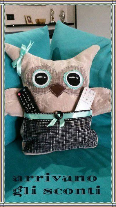 cuscini di stoffa gufo cuscino in stoffa con tasca porta oggetti per la
