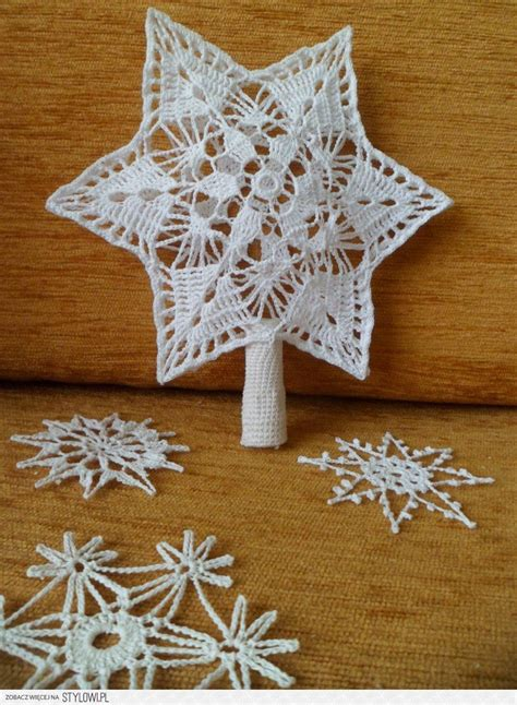 christmas tree snowflake patterns crochet tree topper and snowflakes crochet snowflakes crochet