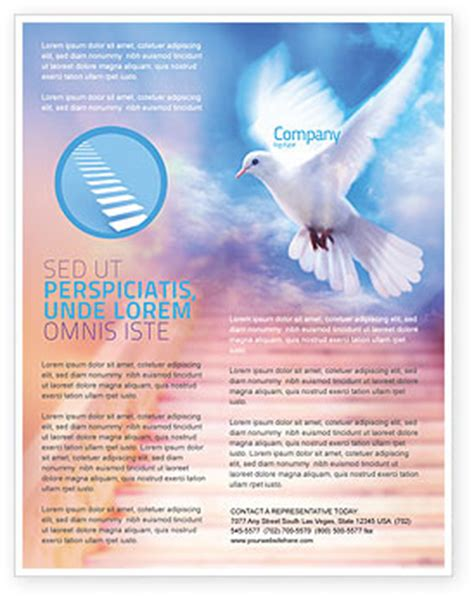 free religious flyer templates holy benediction flyer template background in microsoft
