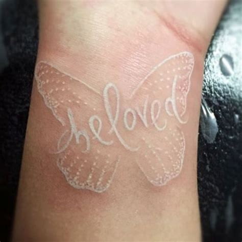 40 beautiful white ink tattoos you will love