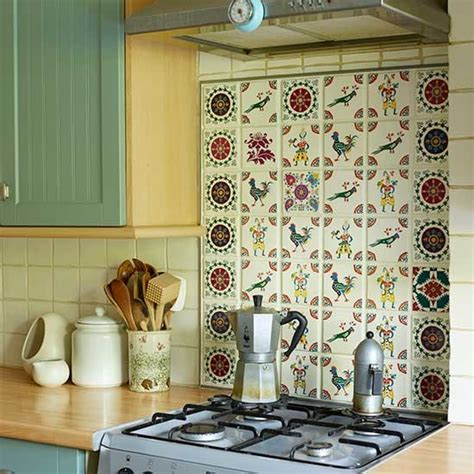 traditional tiled kitchen splashback traditional kitchen