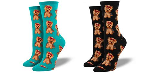 yorkie socks buy yorkie s socks 2 pack teal and black 3105 ilovebadbananas