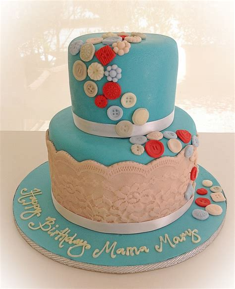 Pin Assembling Multi Tiered Cakes Two Tier Lace Buttons Cake Http Www Karendaviescakes Co Uk Moulds P 200 Mould Tutorials