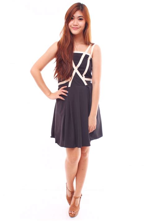 Criss Cross criss cross strapped dress the label junkie
