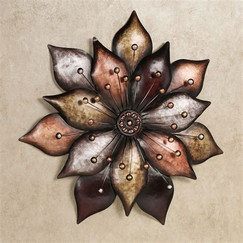 metallic wall decor arris layered floret metal wall