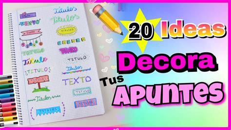 para decorar apuntes 20 ideas de t 205 tulos bonitos para decorar tus apuntes