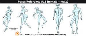 male t pose reference