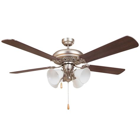 home decor ceiling fans y decor wooster 52 in satin nickel ceiling fan wooster the home depot