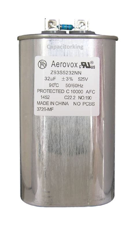 average capacitor lifespan aerovox lighting capacitor 32uf 525 volt metal halide z93s5232n 3726 mf metal halide