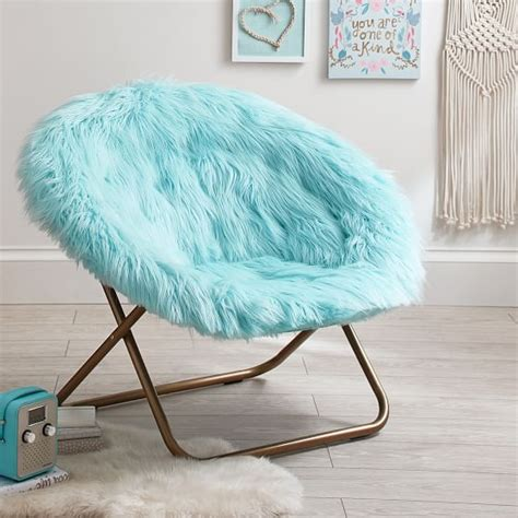 chair for girls bedroom plume himalayan faux fur hang a round chair pbteen