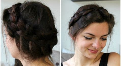 hairstyle do to crown breakage how to make a messy crown braid on your own hair loepsie