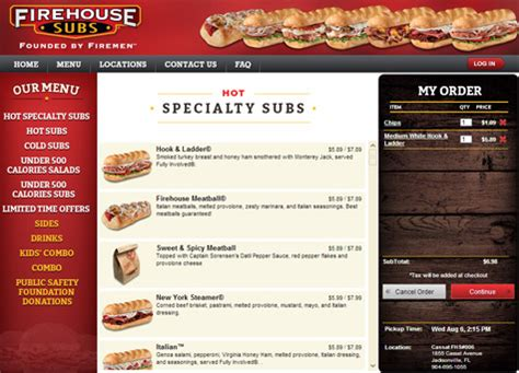 fire house subs menu firehouse subs online ordering portal s4 portfolio jacksonville florida