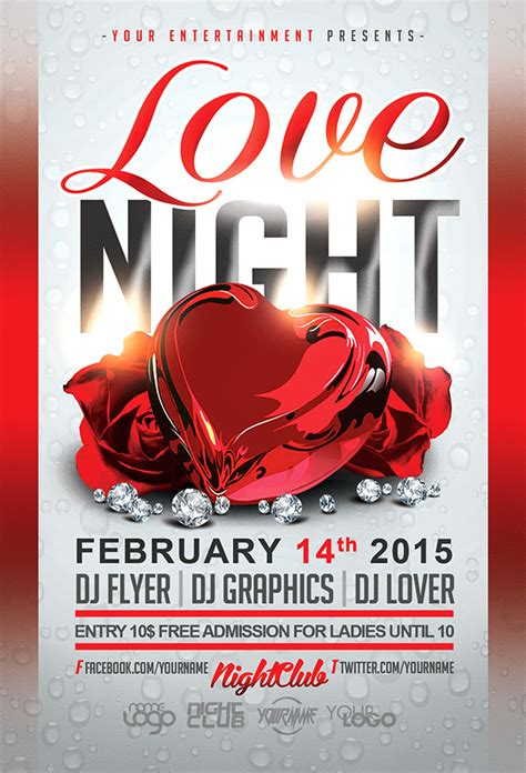 valentines flyer template s day free flyer template on behance