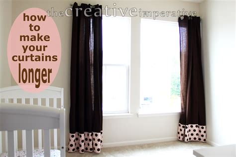 how to make curtains shorter the creative imperative how to make your curtains longer