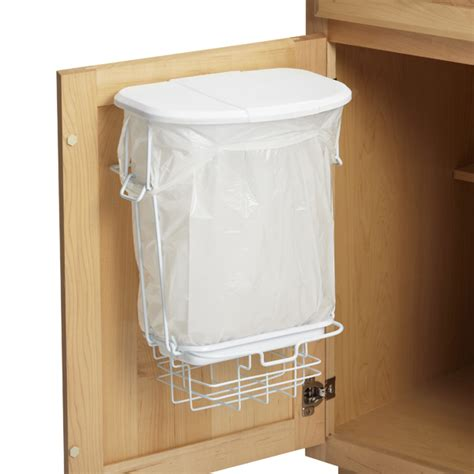 cabinet door hanging trash can 3 gal trashrac trash basket with lid the container