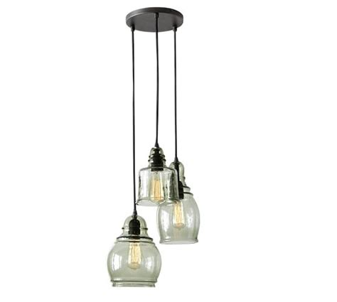 Pottery Barn Lighting Pendant Paxton Glass 3 Light Pendant Pottery Barn