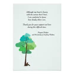 in my bereavement thank you card zazzle