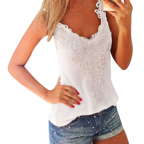 Blouse Atasan Tunik Import Black Casual Lace Size M 192241 v neck sleeveless casual lace cotton vest shirt tops blouse top tank ebay