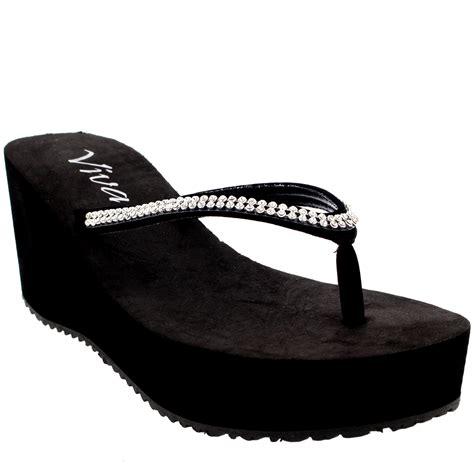 Wedges Slip On Korea 1 womens slip on flip flops pumps platform summer wedges sandals us 5 11 ebay