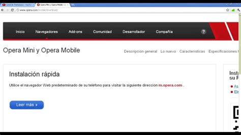 tutorial internet gratis opera mini como descargar opera mini para celular doovi