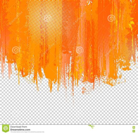 orange grunge paint splashes background vector with place for your text splash graffiti