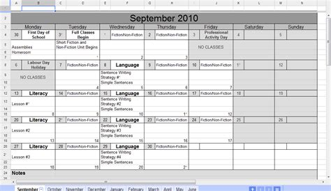 calendar spreadsheet  samplebusinessresumecom samplebusinessresumecom