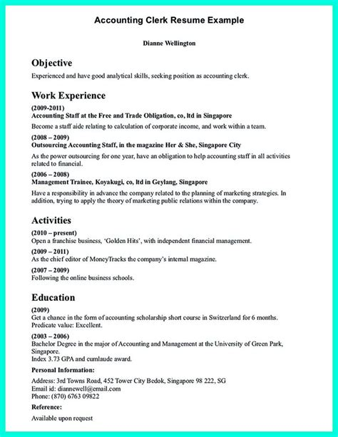 clerical resume sle think about the order of writing 11 best office clerk images on sle resume
