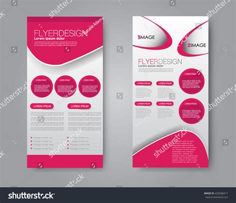 2 sided brochure templates vector flyer leaflet design set two stock vector 429268417