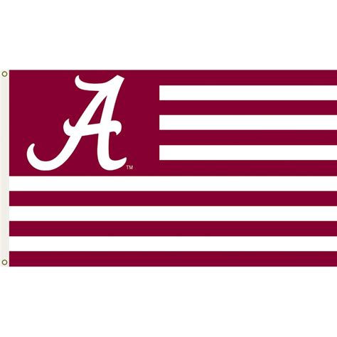 alabama crimson tide 3ft x 5ft team flag stripes design