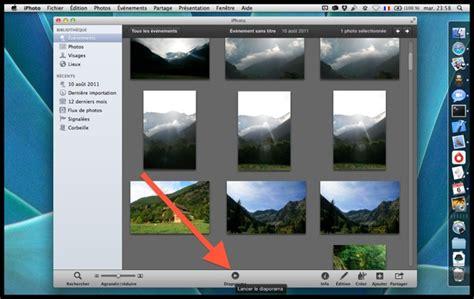 themes diaporama photo mac iphoto cr 233 er un diaporama en quelques secondes