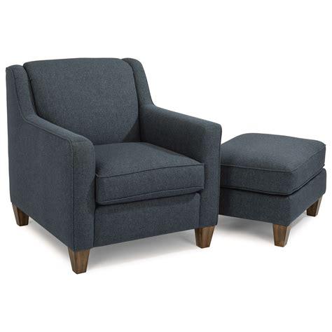contemporary chair and ottoman set flexsteel holly contemporary chair and ottoman with track