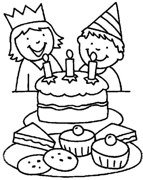 easy birthday coloring pages happy birthday boy coloring pages happy birthday boy