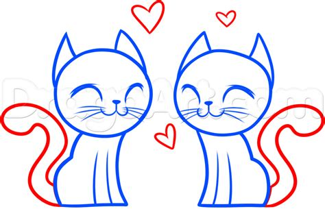 how to draw valentines day pictures step by step how to draw cats step by step valentines