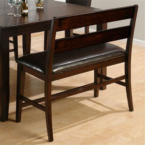 dining bench height dark rustic prairie counter height dining bench 972