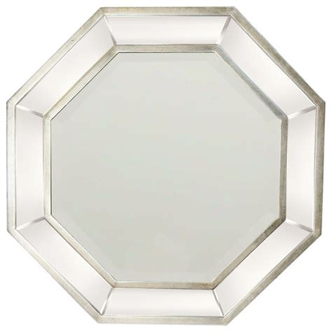 octagon bathroom mirror garber corp octagon wall mirror silver finish wall