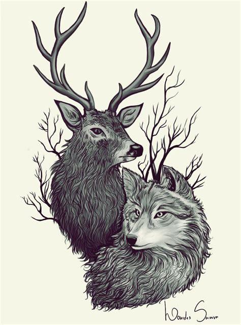deer wolf by agnes green on deviantart