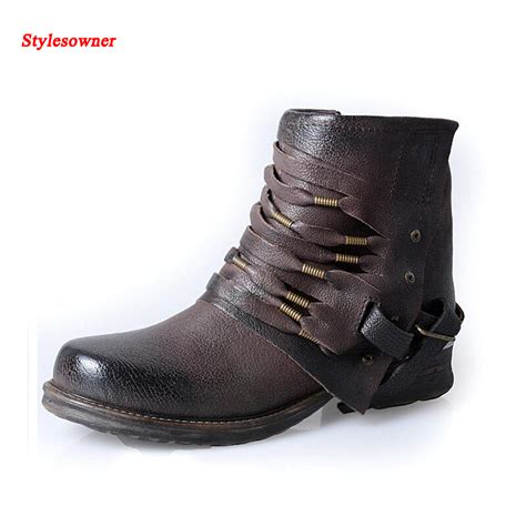 high quality motorcycle boots stylesowner women ankle boots biker cowboy chain fringe