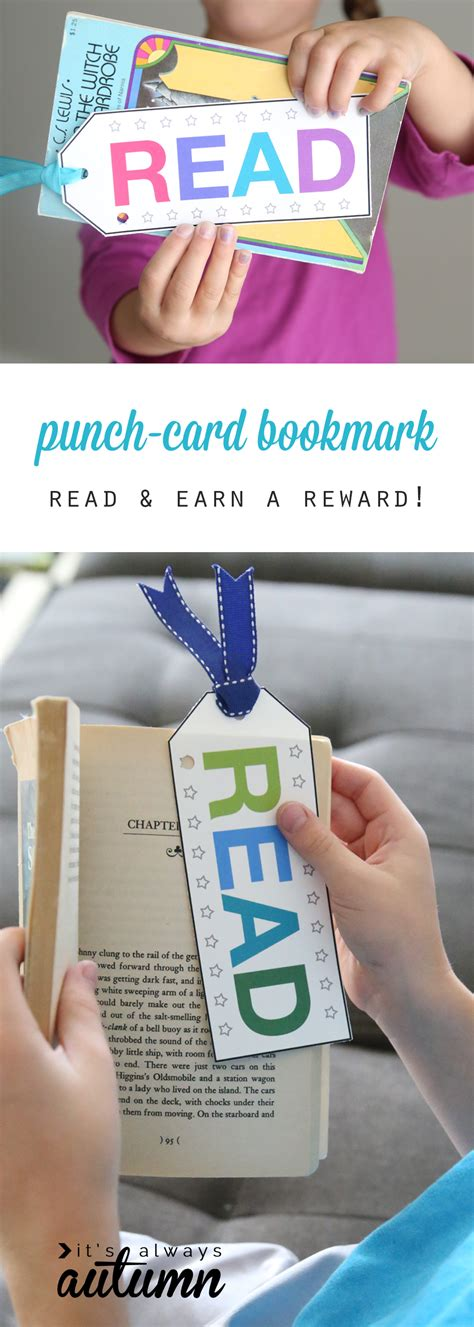 printable reward bookmarks punch card bookmark to encourage reward reading it s