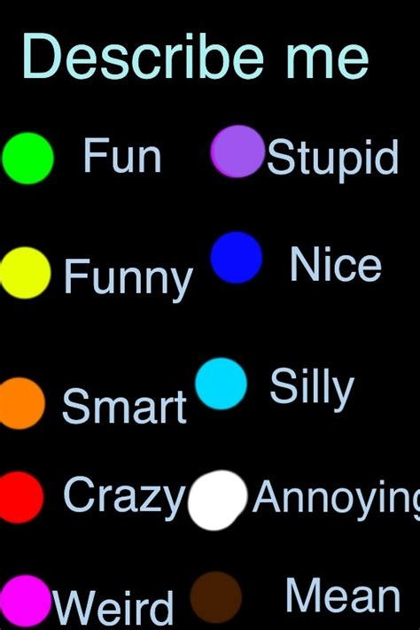 what color am i quiz best 25 comment ideas on chat board