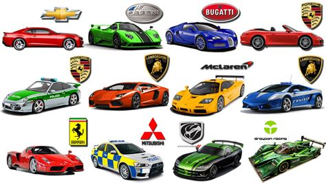 luxury car logos and names sports car brands gt gt learn brand of cars for kids sports