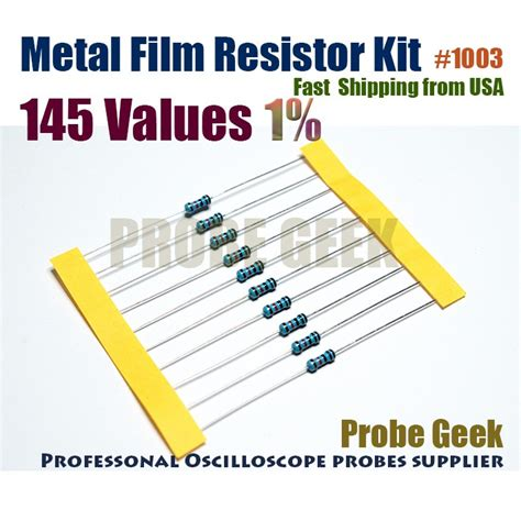 resistor value nc 145 values total 2900pcs 20pcs each 1 1 4w metal resistor assorted kit ebay