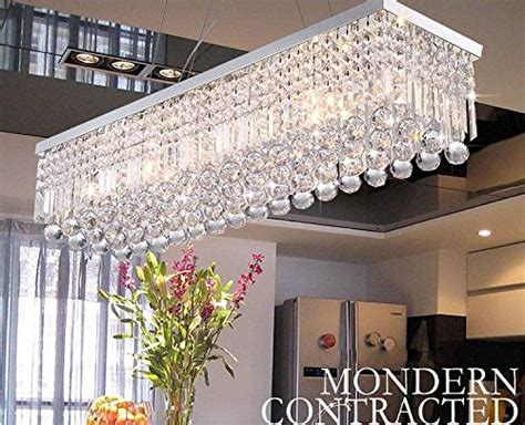 Yum Yum Kitchen Set Musig Light crystop rectangle chandeliers dining room modern