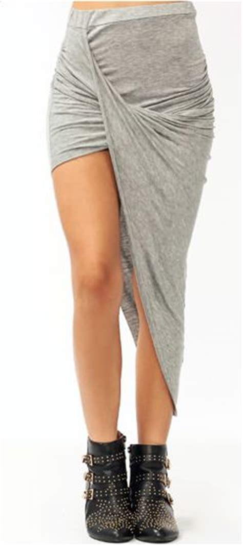 draped asymmetrical skirt helmut lang draped asymmetrical gray skirt diy