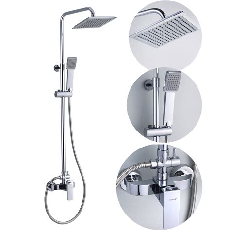 Bathroom Shower Sets with Bathroom Square Shower Set Mixer Taps In Chrome Jd 1182 Wholesale Faucet E Commerce
