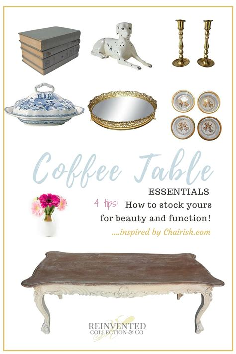 how to style a coffee table living room decor