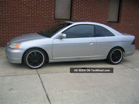 2003 Honda Civic 2 Door 2003 honda civic ex coupe 2 doors silver automatic